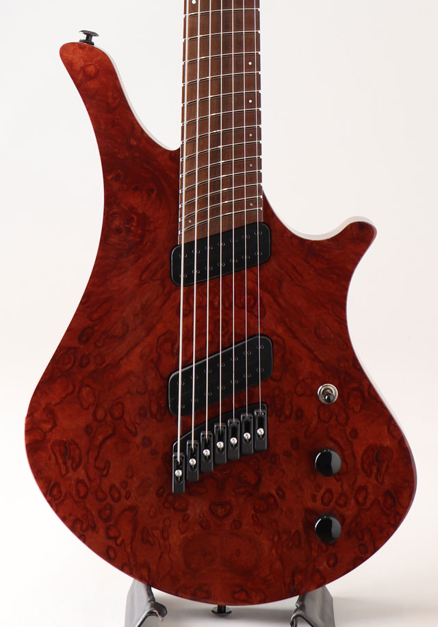 Oni Guitars Essi 7st  Red Gum Burl オ二ギターズ