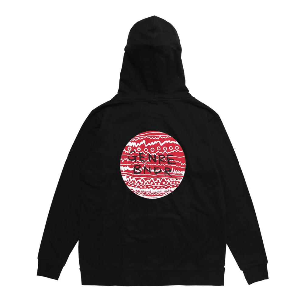 【ステッカー付き】ZIP-UP w/RED TRIBE on BLK Black - Red / 7.4oz