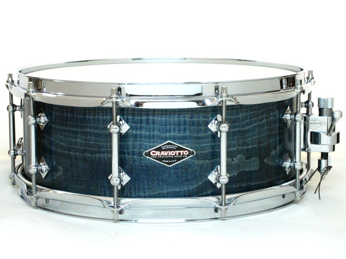 "【在庫一掃セール40%OFF!!】Curly Maple Solid Shell Burnt Teal Stain 14""×5,5"""