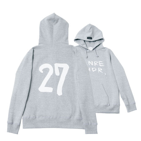 【ステッカー付き】The 27 Club Back Print / 12.4oz GRY w/GB Hoodie (size:XL)