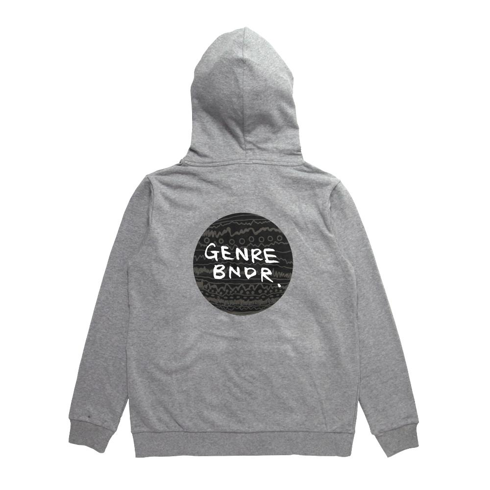 【ステッカー付き】ZIP-UP w/GRAY TRIBE on GRY Gray - Gray / 7.4oz