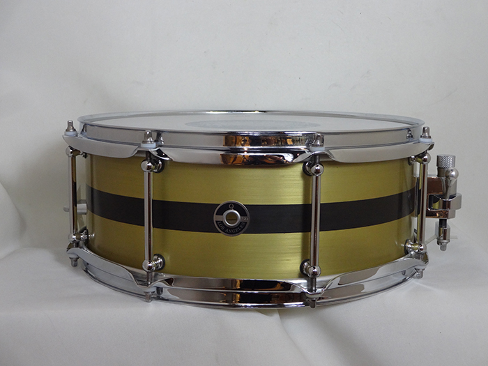 "【Special Edition】Brass Plate 3mm Stripe & Tube Lugs Type 14""×5.5"""