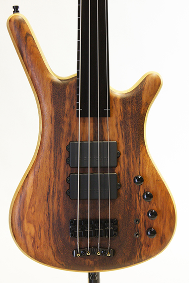"Custom Shop Corvette $$ Fretless 4st  Bolt-on ""Tigerwood Top"""