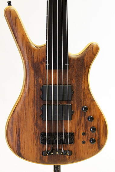 "Custom Shop Corvette $$ Fretless 5st Bolt-on ""Tigerwood Top"""