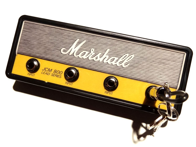 "Official MARSHALL Jack Rack- ""JCM800 HANDWIRED""with 4 keychains"