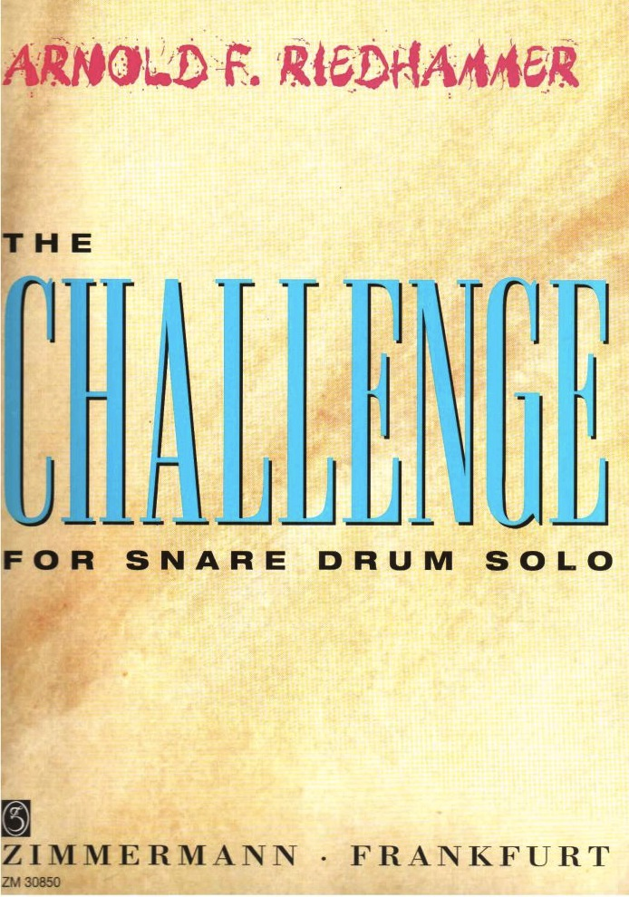 【ネコポス発送】スネアドラムソロ『A.F.Riedhammer/The Challenge for Snare Drum Solo』